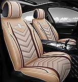 Han sui song Funda de asiento de coche de piel, accesorios Auto, fundas para coches asientos piel funda asiento coche impermeable,Beige