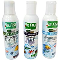 DR FISH Anti Chlorine, Fast Medical Care & Green O Green, Pack of 3, Each 100 ml