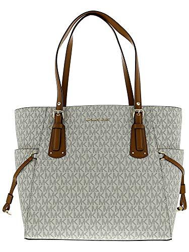 Michael Kors Damen Voyager Tote, Weiß (Vanilla), 16x29x39 centimeters - Kors Tote-michael Handtaschen