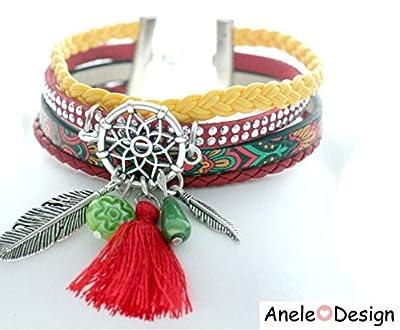 Bracelet manchette pour femme Dreamcatcher Attrape rêves
