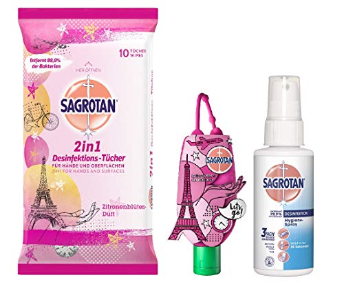 Sagrotan Kleines Hygiene-Reise-Set mit 3 Artikeln