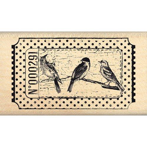 Florilèges Design fd114038Stempel Scrapbooking Ticket Vögel beige 4x 7x 2,5cm