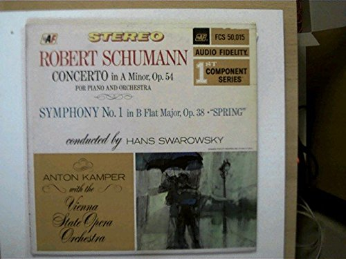 """Schumann Concerto in A Minor, op.54 Piano and Orch., Symphony No.1 """"Spring"""","""