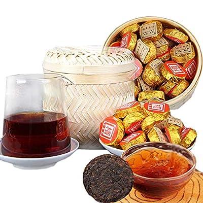 Thé Pu'er Chinois Poids Net 500g ?1.1LB? Thé Puer mûr Thé Noir Chennian Mini Gâteau Doré Vieux Arbres Pu Erh Thé Soins de Santé