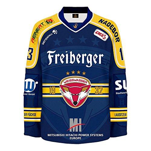 Fan-Trikot Lausitzer Füchse Weisswasser offiziells Fan Shirt #13 Mücke HOME Gr. XL (V.I.P. Pictures World by (Hat Wo Fuchs Der)