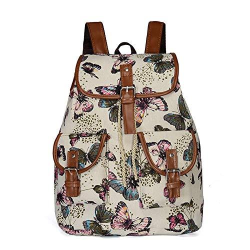 Yany Frauen Rucksack, Kreuz-Grenze Mode Neue Europäische Und Amerikanische Außenhandel Tasche Frauen Leinwand Tasche Flut Freizeit Outdoor Rucksack (Color : D) -
