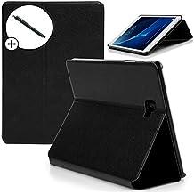 Forefront Cases® Samsung Galaxy Tab A 10.1 with S Pen SM-P580 Funda Carcasa Stand Smart Case Cover Protectora Plegable – Función automática inteligente de Suspensión/Encendido + Lápiz óptico ***SOLO AJUSTAR SAMSUNG GALAXY TAB A 10.1 SM-P580 CON INTEGRADO S PEN***