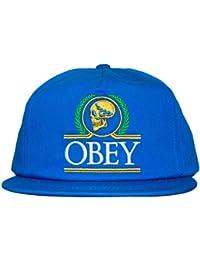 Obey – Gorra con Visera Plana para Hombre Emperors Snapback – Cobalto f87754101fd