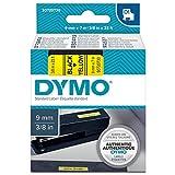Dymo S0720690 Schriftbänder D1 9 x 7, schwarz/gelb