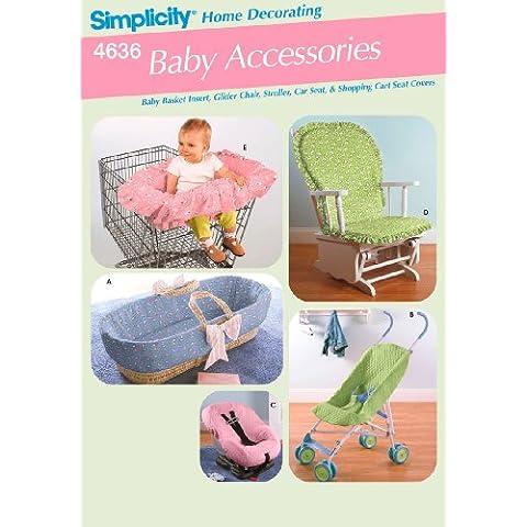 Simplicity 4636 - Patrón de costura para accesorios de bebé (talla única)