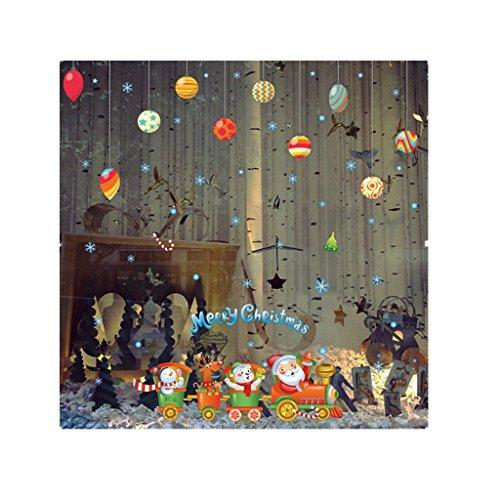 zarupeng Cabina de Navidad la decoración del hogar de vinilo ventana pegatinas de pared decorativos★extraíble★ (Multicolor #3)