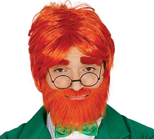er Kobold mit Bart für Erwachsene Irland Ire Nationalfeiertag St. Patrick (Ire Kostüm)