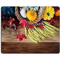 Msd Natural rubber Gaming Mousepad Image ID 31157863a cornucopia con zucche squash Gourds grano e (Tavolo Cornucopia)