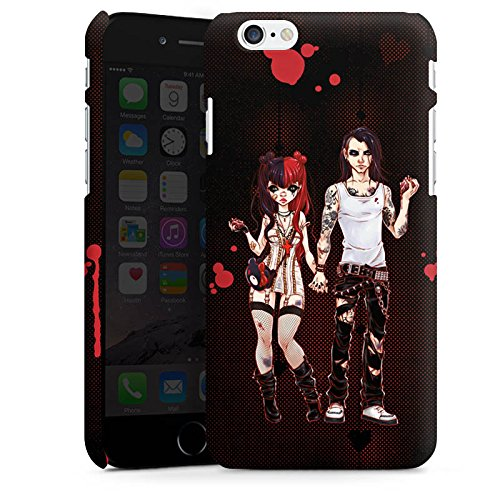 Apple iPhone X Silikon Hülle Case Schutzhülle Valentine Dark Comic Boy and Girl Premium Case matt