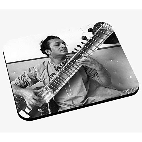 Mausunterlage Foto von Star der berühmten Spieler-Charaktere Ravi Shankar Sitar Musik Original 1