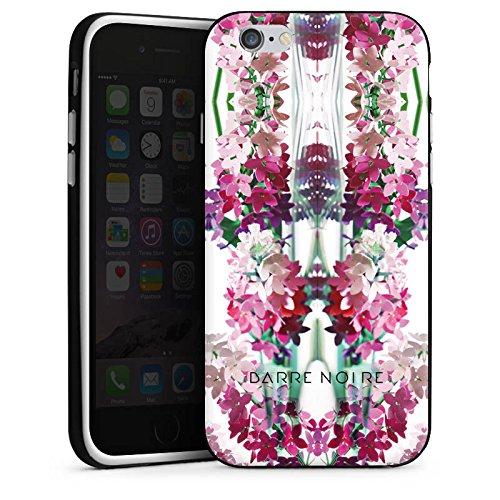 Apple iPhone X Silikon Hülle Case Schutzhülle Blumen Muster Flower Silikon Case schwarz / weiß