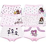 IPBEN Boxer Slip Lot de 6 Fille Bébé Enfant Culotte Filles Shorty Enfants Coton Boxer Slip Pantalon sous-Vêtement en Coton Motif Mignon 3-13 Ans (5-6 Ans, Girls 6 Pack/01)