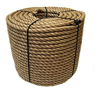 RopeServices UK 24mm Synthetic Manila Decking Rope x 15 Metres, Garden, Boating, Camping