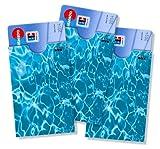cardbox /// Motiv: Pool / Wasser /// 3er SET /// Kartenhüllen für ec-Karten, Kreditkarten, Versichertenkarten, Kundenkarten, Geschenkkarten, Clubkarten im Scheckkartenformat uvm.