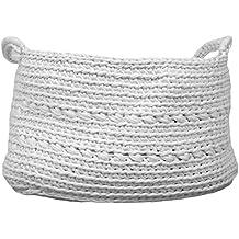 Naco comercio básicos esenciales ganchillo cesta, XL, color blanco