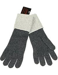 Lovarzi Grau Herrenhandschuhe - Lange Winterhandschuhe für Männer - Handschuhe aus Wolle