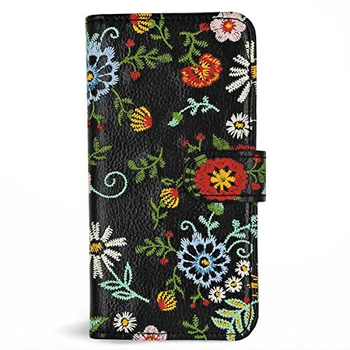 Zero Gravity Apple iPhone 7/8 Jardin Wallet Phone Case - Embroidered Floral Design - 360° Protection, Drop Test Approved - Le Jardin Floral