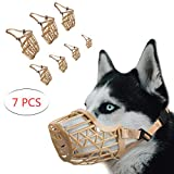 RockPet Basket Dog Muzzle for Medium Small Large Dogs to Prevent Eating Biting