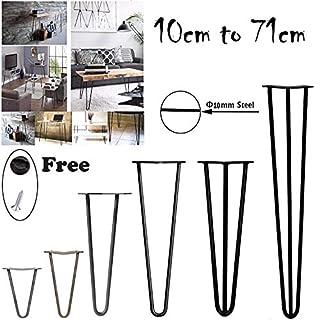 Tischbeine aus Metall, robust, für Heimwerker, stabil, 10 cm bis 72 cm, 4 Stück