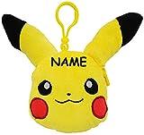 3-D Effekt - PLÜSCH - Geldbörse / kleine Tasche - ' Pokémon Pikachu ' - incl. Name - Geldbeutel & Portemonnaie - mit Schlüsselanhänger - Karabiner / kleine Tasche für Utensilien - für Kinder - Geld - Mädchen & Jungen - Geldtasche Geld - Pokemon - Schminktasche & Schmucktasche - Plüschtier / Kuscheltier - Figur - Münzbeutel - Schlüsselbund - Kindergeldbörse