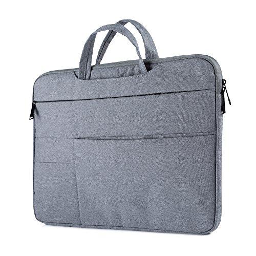 "Y-master 14-15,4 Zoll Laptophülle Sleeve Case elegant dünn für Lenovo Dell Acer Asus Macbook Toshiba und andere 14-15.4\"" Ultrabooks Notebooks, Hellgrau"