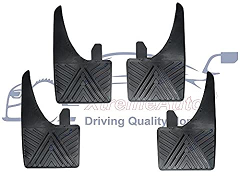 XtremeAuto® XA_plainflaps35 Front and Rear, Rubber Car Mud Flaps, with Water Channels, Universal,