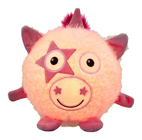 Vivid Imaginations Oodlebrites – Unicornio de peluche luminoso (multicolor)