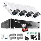 Die besten SANNCE Überwachungskameras - Sannce Überwachungssystem Videoüberwachung PoE 1080P HD 4CH NVR Bewertungen