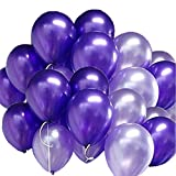 GuassLee 100pcs / pack Latex Ballons 10 Zoll 0,063OZ Verdickung Pearl Balloons für Hochzeit Geburtstag Party Festival Weihnachten Dekorationen Lila und Helles Lila