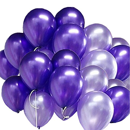 ck Latex Ballons 10 Zoll 0,063OZ Verdickung Pearl Balloons für Hochzeit Geburtstag Party Festival Weihnachten Dekorationen Lila und Helles Lila (Machen Sie Halloween-dekorationen)