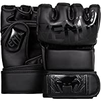 Venum Undisputed 2.0 Guantes de MMA, Unisex Adulto, Negro Opaco, L/XL