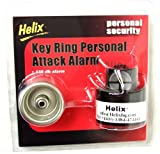 Helix Key Ring 138 db Personal Attack Alarm with Spare Energy Cell, Black