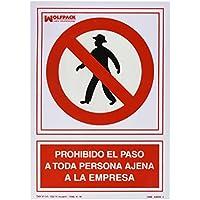 Wolfpack 15050530 Cartel Prohibido el Paso Persona Ajena Empresa 30x21