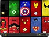 livestash all superheroes laptop skin
