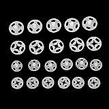 Plastique Boutons pression à coudre 10mm 14mm Lot de 36Ensembles Blanc