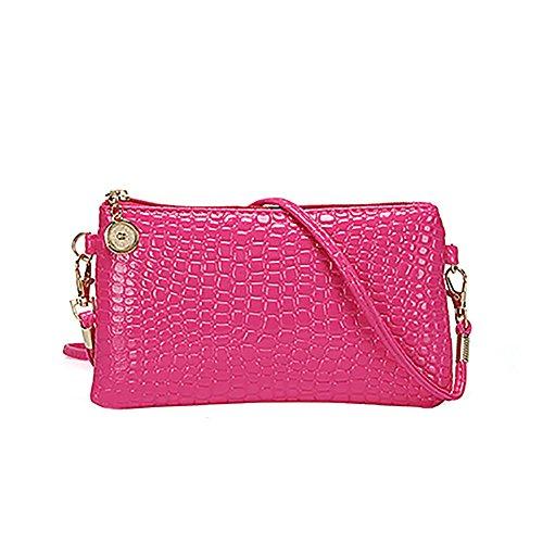 Bodhi2000 Damen Crossbody Satchel Bag Tote Mini Messenger Handtasche Rose