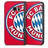 DeinDesign Samsung Galaxy S7 Edge Leder Flip Case Tasche Hülle FCB Fanartikel Merchandise FC Bayern München