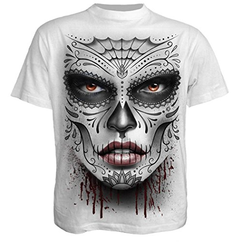 Death Mask T-Shirt #35127, weiß Weiß