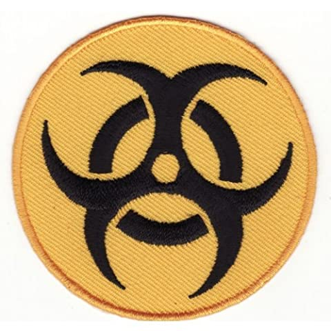 Biohazard Medical Waste Symbol Iron Sew On Embroidered Patch by ChewyBuy