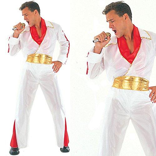 Elvis Rock Star Kostüm (Rock Star Kostüm Für Erwachsene)