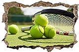 Tennis Tennisball Tennisplatz Wandtattoo Wandsticker Wandaufkleber D0613 Größe 40 cm x 60 cm