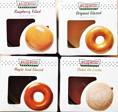 krispy-kreme-doughnut-scented-candles-original-glazed-maple-iced-glazed-raspberry-filled-and-dulche-