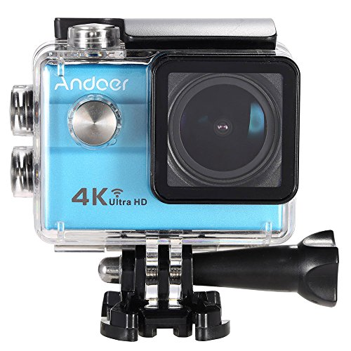 Action Camera da 16MP con WiFi, UltraHD 4K, 1080p a 60fps, grandangolo 173°