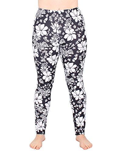 Leggins Damen Leggings leggings mit Muster bunt schwarz weiß elastisch 455 lang ( 5 / S/M ) - 2