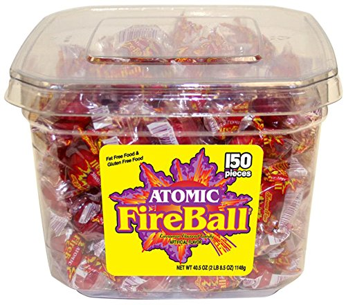 Atomic Fireball, Individually Wrapped - 150ct Tub
